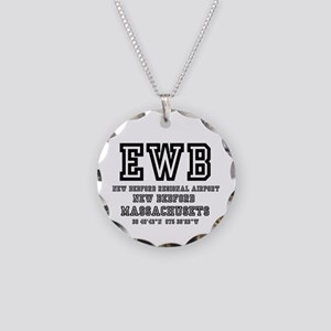 AIRPORT CODES - EWB - NEW BE Necklace Circle Charm