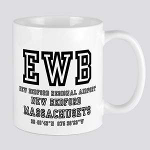 AIRPORT CODES - EWB - NEW BEDFORD, MASSACHUSE Mugs