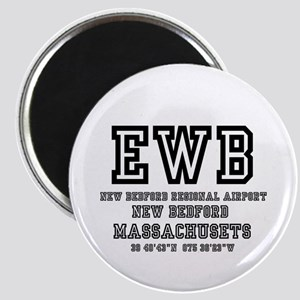 AIRPORT CODES - EWB - NEW BEDFORD Magnets