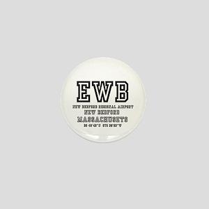 AIRPORT CODES - EWB - NEW BEDFORD, MAS Mini Button