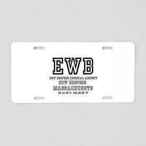 AIRPORT CODES - EWB - NEW B Aluminum License Plate