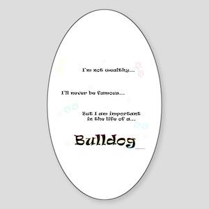 Bulldog Life Oval Sticker