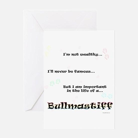Bullmastiff Life Greeting Card
