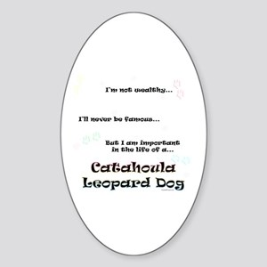 Catahoula Life Oval Sticker