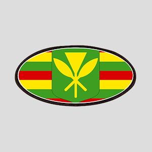 Kanaka Maoli Flag - Hawaiian Independence Fl Patch