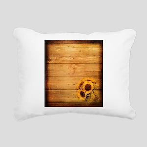 western country barnwood Rectangular Canvas Pillow