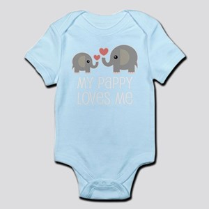 Pappy Loves Me Cute Grandchild Body Suit