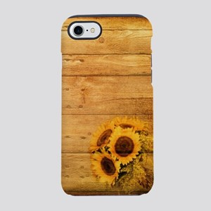 western country barnwood sun iPhone 8/7 Tough Case