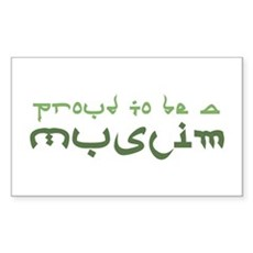 Proud To Be A Muslim Rectangle Sticker