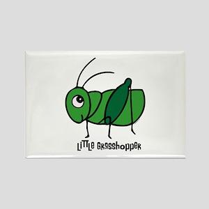 Little Grasshopper Rectangle Magnet