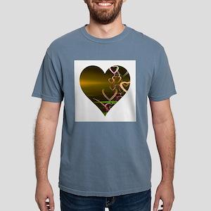 Shiny Gold Heart T-Shirt