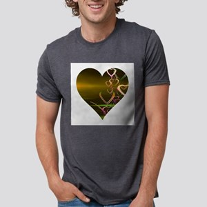 Shiny Gold Heart T-Shirt