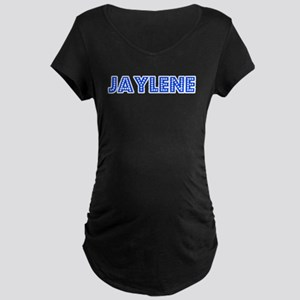 Retro Jaylene (Blue) Maternity Dark T-Shirt