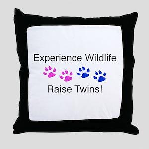 Experience Wildlife Raise Twi Throw Pillow