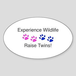 Experience Wildlife Raise Twi Oval Sticker