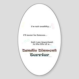 Dandie Dinmont Life Oval Sticker