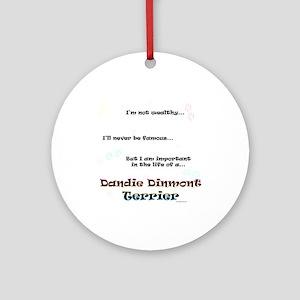 Dandie Dinmont Life Ornament (Round)
