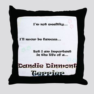 Dandie Dinmont Life Throw Pillow