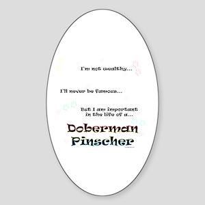 Dobie Life Oval Sticker