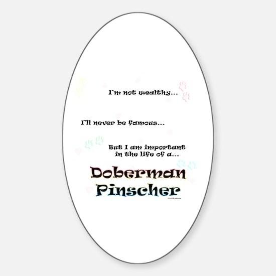 Dobie Life Oval Decal