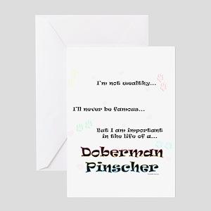 Dobie Life Greeting Card