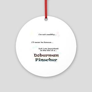 Dobie Life Ornament (Round)