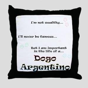 Dogo Life Throw Pillow