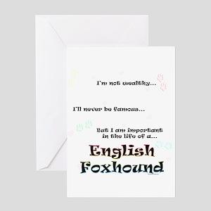 English Fox Life Greeting Card