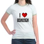 I LOVE ASHLEIGH Jr. Ringer T-Shirt