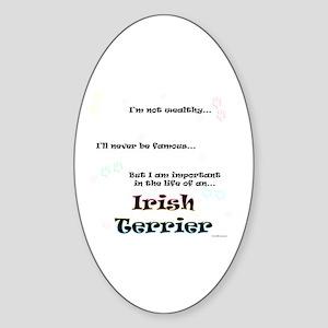 Irish Terrier Life Oval Sticker