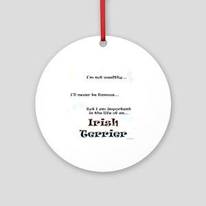 Irish Terrier Life Ornament (Round)
