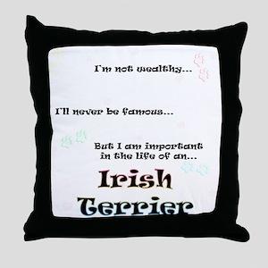 Irish Terrier Life Throw Pillow