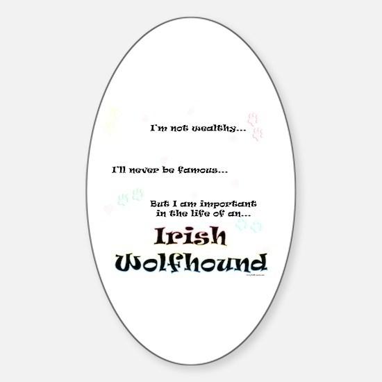 Irish Wolfhound Life Oval Decal