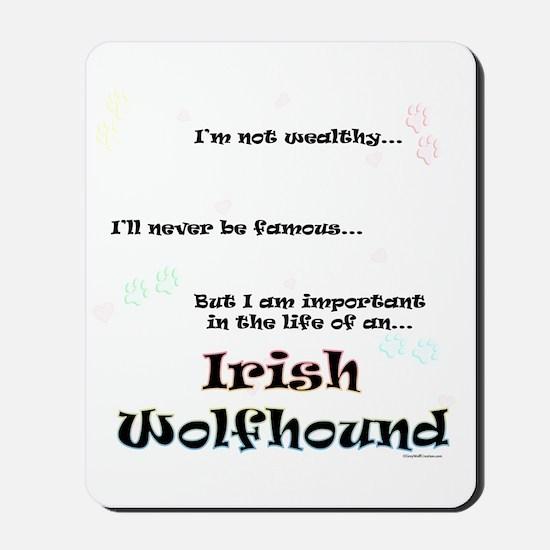 Irish Wolfhound Life Mousepad