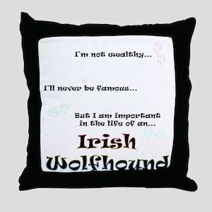 Irish Wolfhound Life Throw Pillow