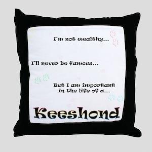 Keeshond Life Throw Pillow