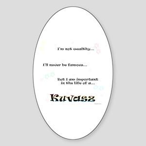 Kuvasz Life Oval Sticker