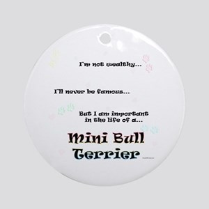 Mini Bull Life Ornament (Round)