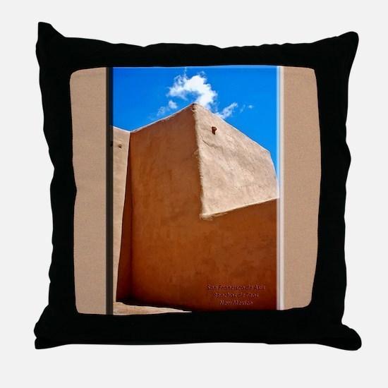 Rancho de Taos Church Wall Throw Pillow