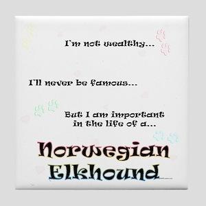 Elkhound Life Tile Coaster
