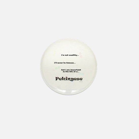 Pekingese Life Mini Button