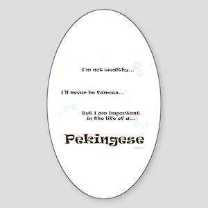 Pekingese Life Oval Sticker