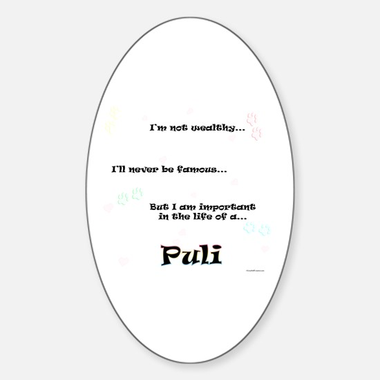 Puli Life Oval Decal