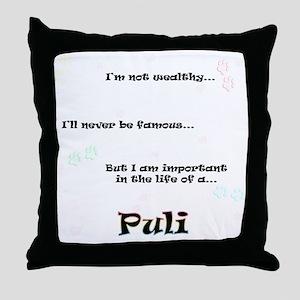Puli Life Throw Pillow