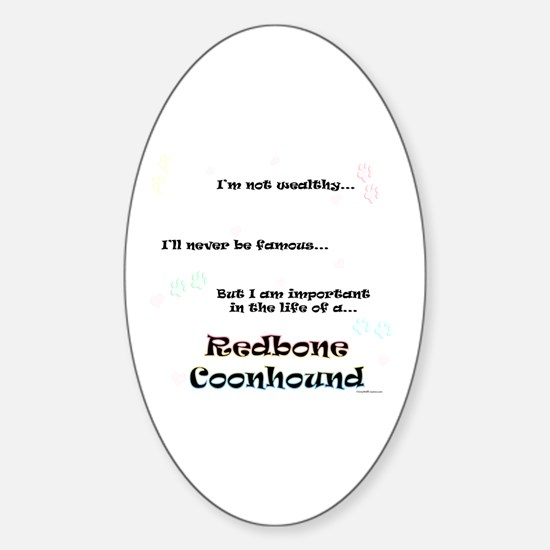 Coonhound Life Oval Decal