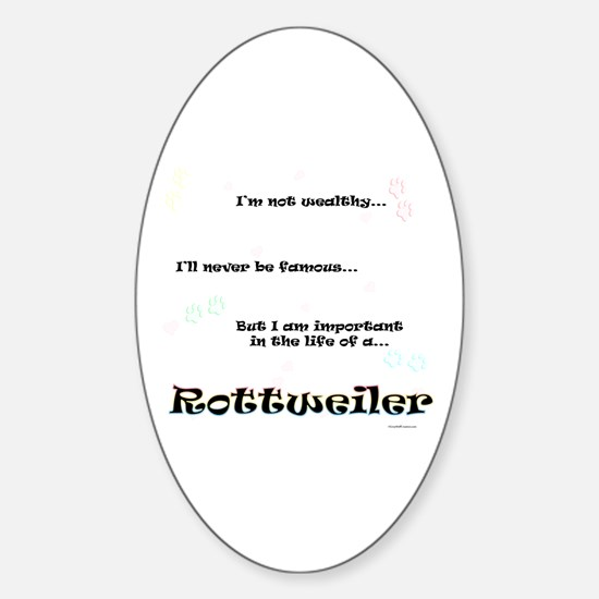 Rottweiler Life Oval Decal
