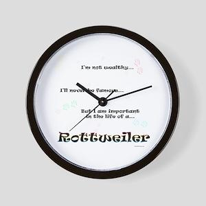 Rottweiler Life Wall Clock