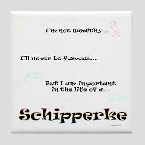 Schipperke Life Tile Coaster