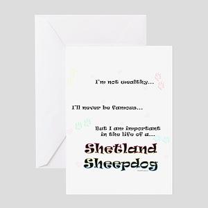 Sheltie Life Greeting Card