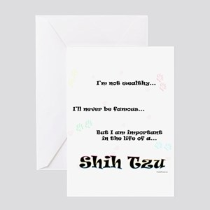 Shih Tzu Life Greeting Card